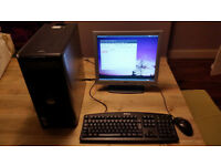 Dell OptiPlex GX620 Desktop PC, LG Flatron L1715S monitor, keyboard and mouse