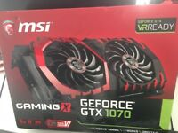 MSI GTX 1070 graphics card for pc - boxed