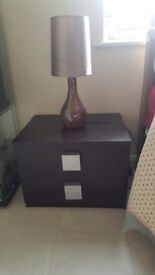Good condition brown bedside cabinet