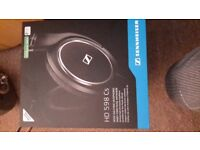 Sennheiser HD 598 CS headphones (Open box, never used, excellent condition)