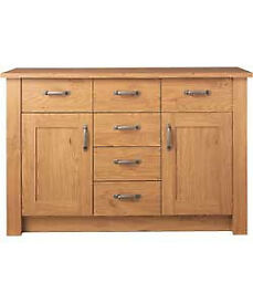 Ohio 2 Door 6 Drawer Sideboard - Oak Effect