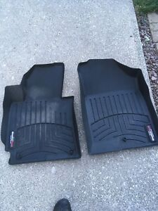 Tires and weather tech mats