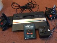 Atari2600 with two controllers and star master game. And adapter