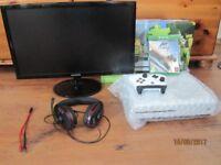 Xbox 1 S + Monitor & More