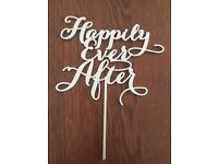 Acrylic cake topper - Happily ever after