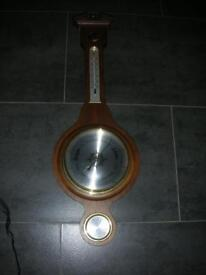 DARK WOOD BAROMETER