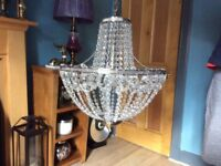 Marks and Spencer glass droplet light fitting