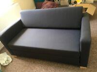 Ikea 2 seater sofa bed dark blue/navy