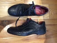 Bally Black Shoes ALESIA Lace-up 39 1/2 EUR- 6.5UK Made in Switzerland