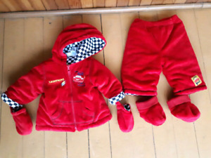 3-6 months Lightning McQueen two pieces suit  LIKE NEW