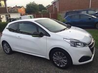 Peugeout 208. 1.2 Active. White, alloy wheels.