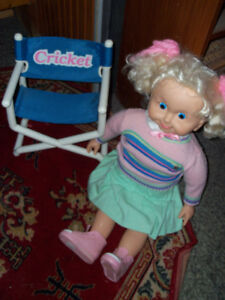 Vintage Kricket Doll.. with Chair and Cassette Tape