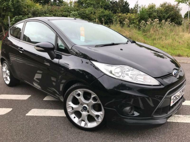 2009 58 FORD FIESTA 1.6 ZETEC S 3DR 118 BHP BLACK METALLIC, GENUINE 103K MILES
