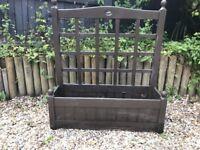 Wooden garden planter