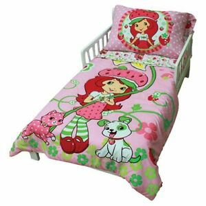 Strawberry shortcake 5pc Toddler Bedding Set in EUC