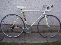 Raleigh Kellogg's tour retro vintage road bike, 700 wheels, 12 gears, 21 inch Reynolds 501 frame