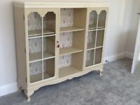 Cream painted china cabinet / sideboard