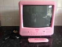 Pink TV and DVD combi- quick sale needed