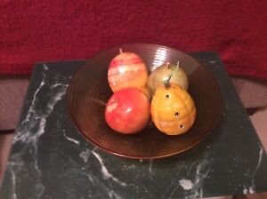 Fruit made of heavy marble