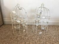 2 Bird Cages with Tea Lights