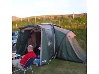Large Tent x3 double rooms around central room, excellent Head height and canopy, easy to put up