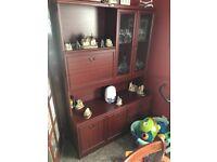 Dark wood furniture items (various)