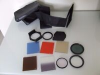 ASSORTED FILTERS WITH CASE ALL GOOD CONDITION