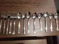 Good quality forks, spoons and soup spoons