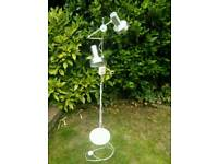 Original 1970s lamp In White Refurbished & PAT TESTED