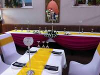 Asian Wedding, Floral Stages, Mehndi Stages, Chair Covers & House lighting Hire