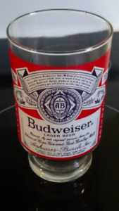 Budweiser collectors beer glass