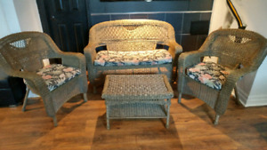Resin wicker 4 piece patio set