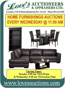 HOME FURNISHINGS & MORE AUCTIONS EVERY WEDNESDAY @ 11 AM