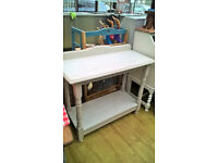 Solid oak hall table - white wash chic