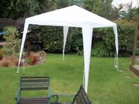 White Gazebo - 2.4 Metre X 2.4 Metre x 2 Metre High - With bag, pins and instruction leaflet.