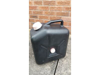 Waste container, 23L black for caravan waste disposal