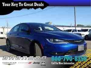 2016 Chrysler 200 S - Low Mileage, Power Leather Seats, Push Sta