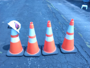 Great Deal! Construction Cones with Hard Hat