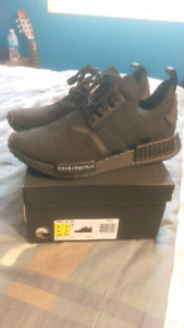 Adidas nmd r1 pk japan triple black size 9.5 new