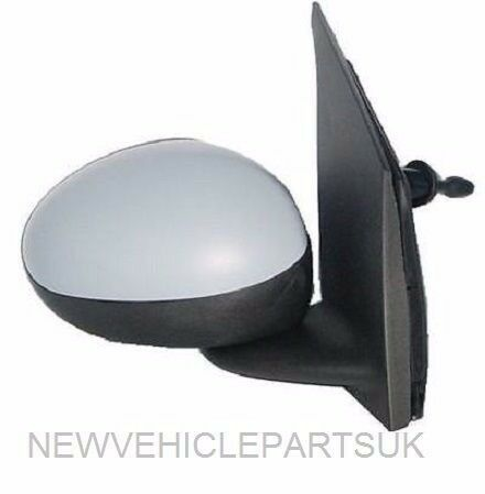 PEUGEOT 107 2005-2014 DOOR WING MIRROR MANUAL PRIMED DRIVER SIDE NEW HIGH QUALITY GREE DELIVERY