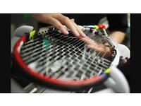 Restringing Tennis Rackets