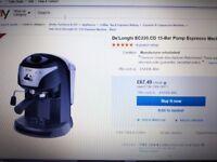 De'Longhi EC220.CD 15-Bar Pump Espresso Machine in Black