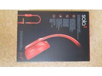 Beats Dr Dre Solo 2 Red Wired Headphones
