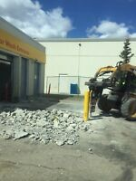 Concrete Removal & skid steer services