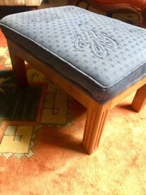 Upholstered Wooden Footstool