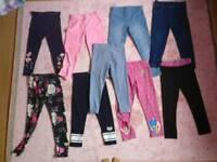 Girls Bundle Leggings 5/6 years size