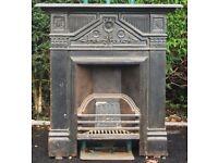 Cast iron vintage fireplace
