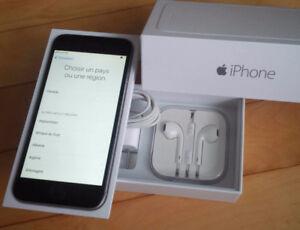 iPhone 6 Gris 16Go, avec étui. Bell ou Virgin, en excellent État