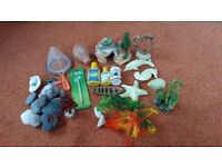 Fish tank starter kit, lots of bits to start off in your new tank. Few products to,