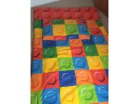 Lego curtains, blind, quilt cover and boys bedroom accessories